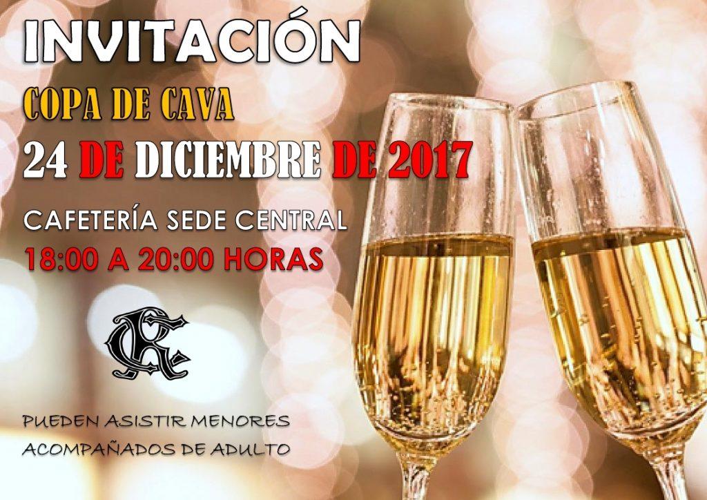Invitaci n copa de cava el 24 de diciembre circulo de for Copa de cava