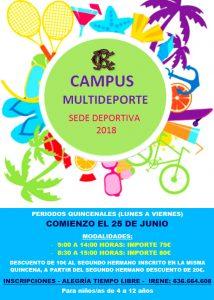 Campus Multideporte verano 2018 @ Sede deportiva (Tronqueria)