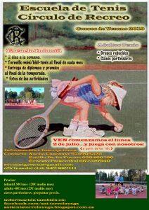 Escuela de tenis verano 2018 @ Sede deportiva (Tronqueria)