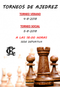 Torneos Ajedrez 2018 @ Sede Deportiva