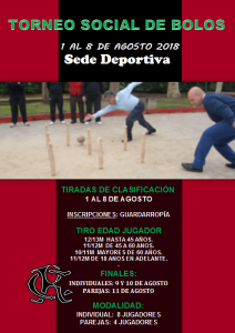 Torneo Social de Bolos 2018 @ Sede Deportiva