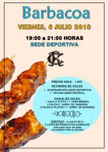 Barbacoa Julio 2018 @ Sede deportiva (Tronqueria)