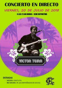 Concierto Victor Teira 2018 en directo @ Sede deportiva (Tronqueria)