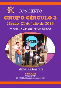 Concierto Grupo Círculo 3 verano 2018 @ Sede deportiva (Tronqueria)