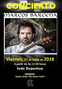 Concierto Marcos Bárcena 2018 @ Sede deportiva (Tronqueria)