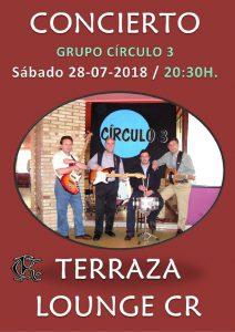 Segundo cocierto del verano 2018 del Grupo Círculo 3 @ Sede Central (Terraza Lounge CR)