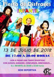 Fiesta de Disfraces Infantil verano 2018 @ Sede deportiva (Tronqueria)