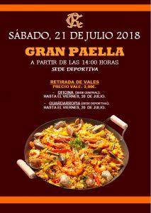 Gran Paellada Julio 2018 @ Sede deportiva (Tronqueria)