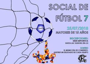 Social 2018 de Fútbol 7 @ Sede deportiva (Tronqueria)