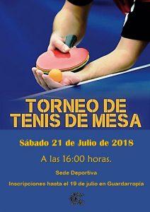 Torneo 2018 de Tenis de Mesa @ Sede deportiva (Tronqueria)