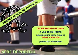 Torneo Social de Futbolín 2018 @ Sede Deportiva