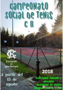 TORNEO SOCIAL DE TENIS 2018 @ Sede Deportiva