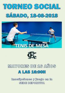 Torneo Tenis de Mesa 2018 @ Sede Deportiva