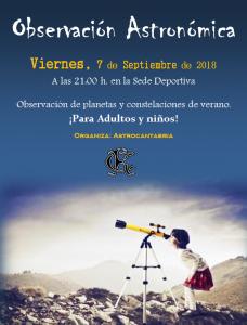 Observación Astronómica 2018 @ Sede Deportiva