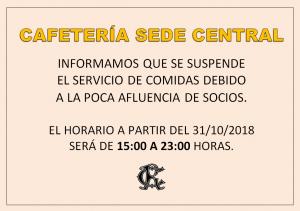 Cafetería @ SEDE CENTRAL