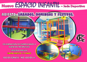 ¡Nuevo Espacio Infantil! @ SEDE DEPORTIVA