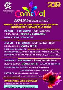 Fiestas de Carnaval @ Sede Central/Sede Deportiva