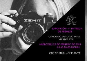 Exposición y Entrega premios Concurso Fotografía Verano 2018 @ Sede Central