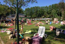 Solarium natural con piscina y ambiente de verano