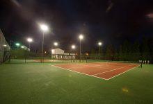 Pistas de tenis, imagen nocturna