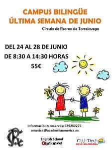 CAMPUS BILINGÜE 24 AL 28-06-2019 @ Sede Deportiva