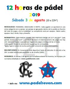 Torneo 12 horas de Pádel @ Sede Deportiva