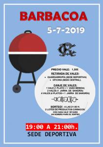 Barbacoa 05-07-2019 @ Sede Deportiva