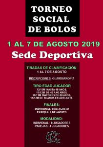 Torneo Social de Bolos @ Sede Deportiva