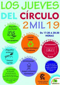 Los Jueves del Círculo 2019 Ago-Sep @ Sede Deportiva