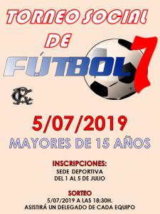 Torneo Social de Fútbol 7 @ Sede Deportiva