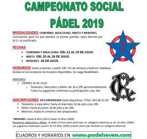 Torneo Social de Pádel @ Sede Deportiva