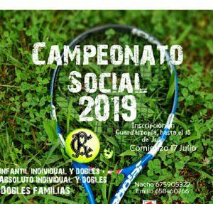 Social Tenis 2019 @ Sede Deportiva