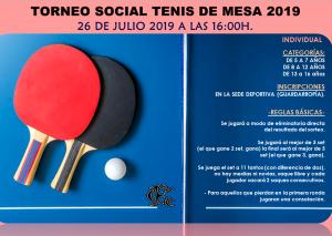 Social de Tenis de Mesa @ Sede Deportiva