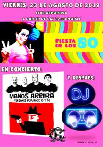 Fiesta Años 80 - Concierto - Dj @ Sede Deportiva