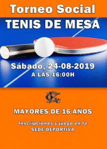 Torneo de Tenis de Mesa @ Sede Deportiva