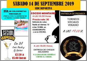 Eventos día 14 de Septiembre @ Sede Deportiva