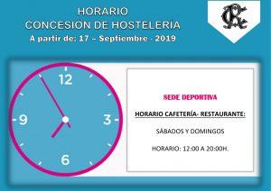 HORARIO HOSTELERÍA SEDE DEPORTIVA @ Sede Deportiva
