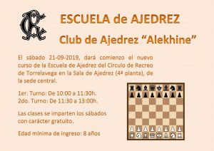 ESCUELA DE AJEDREZ 21-09-2019 @ Sede Central