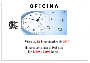 Horario Oficina @ Sede Deportiva