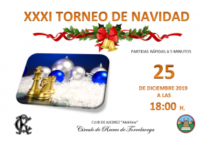 XXXI TORNEO DE NAVIDAD DE AJEDREZ @ Sede Central