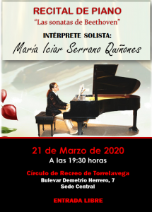 Recital de piano - SUSPENDIDO @ Sede Central