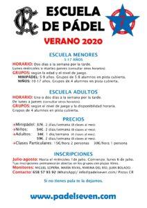 Escuela de Pádel Verano 2020 @ Sede Deportiva