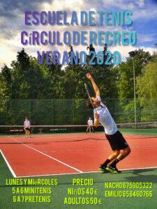 Escuela de Tenis Verano 2020 @ Sede Deportiva