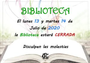 BIBLIOTECA 13 Y 14-07-2020 @ Sede Central