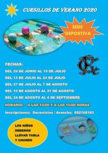 Cursillos Natación Verano 2020 @ Sede Deportiva