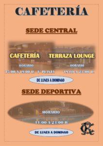 CAFETERÍA VERANO 2020 @ Sede Deportiva