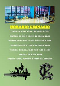 Gimnasio horario 07-07-2020 @ Sede Central