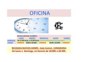 Horario Oficina @ Sede Central
