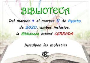 Biblioteca 04-08-2020 @ Sede Central