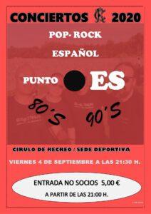 Concierto 04-09-2020 @ Sede Deportiva